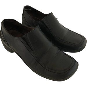 Hush Puppies Black Slip on Leather Loafer